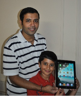 iPad Winner Mr Shah